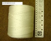 BRAID white  3MM diam x 270metres  rope twine cord string  rotproof